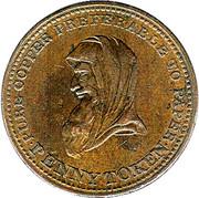 1 Penny (Bank Token) – obverse