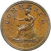 1 Penny (Bank Token) – reverse