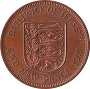 2 New Pence - Elizabeth II (2nd portrait) – reverse