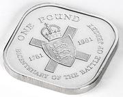 1 Pound - Elizabeth II (Battle of Jersey) -  obverse