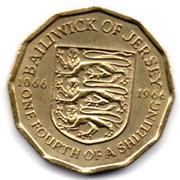 ¼ Shilling - Elizabeth II (Battle of Hastings) – reverse