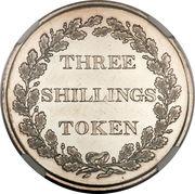 3 Shillings (Bank Token) – reverse