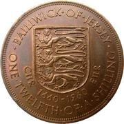 1/12 Shilling - Elizabeth II (1st portrait; Charles II) – reverse