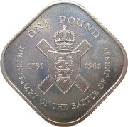 1 Pound - Elizabeth II (Battle of Jersey) -  reverse