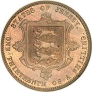 1/13 Shilling - Victoria – reverse
