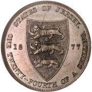 1/24 Shilling - Victoria – reverse