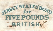 The States of Jersey £5 Bond Sterling 1840 – reverse
