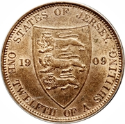 1/12 Shilling - Edward VII – reverse