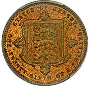 1/26 Shilling - Victoria (Pattern) – reverse