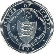 5 Shillings - George III – reverse