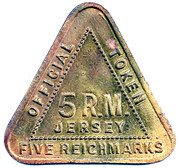 5 Reichmarks Jersey (uniface) – obverse