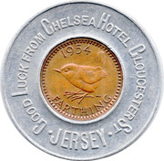 Encased Farthing (Chelsea Hotel Gloucester St. Jersey) – reverse