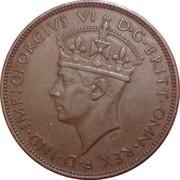 1/24 Shilling - George VI – obverse