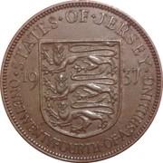 1/24 Shilling - George VI – reverse