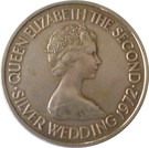 1 Pound - Elizabeth II (Silver Wedding) – obverse