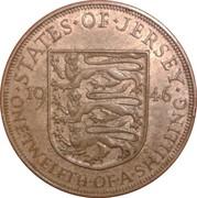 1/12 Shilling - George VI – reverse