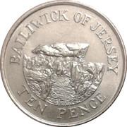 10 Pence - Elizabeth II (2nd portrait; small type) -  reverse