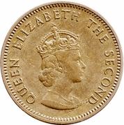 ¼ Shilling - Elizabeth II (1st portrait) – obverse