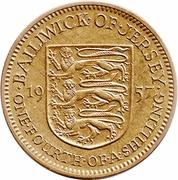 ¼ Shilling - Elizabeth II (1st portrait) – reverse
