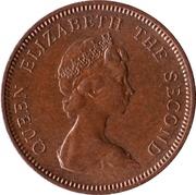 1 New Penny - Elizabeth II (2nd portrait) – obverse