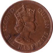 1/12 Shilling - Elizabeth II (1st portrait; Liberation) – obverse