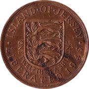 1/12 Shilling - Elizabeth II (1st portrait; Liberation) – reverse