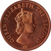 1/12 Shilling - Elizabeth II (1st portrait) – obverse