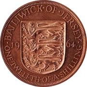 1/12 Shilling - Elizabeth II (1st portrait) – reverse