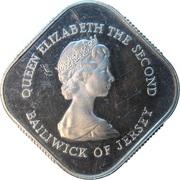 1 Pound - Elizabeth II (Battle of Jersey; Silver Proof Issue) -  obverse