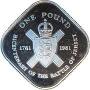 1 Pound - Elizabeth II (Battle of Jersey; Silver Proof Issue) -  reverse