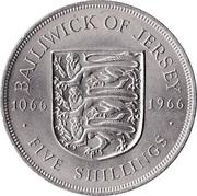 5 Shillings - Elizabeth II (Battle of Hastings) – reverse