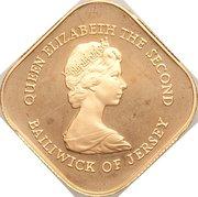 1 Pound - Elizabeth II (Battle of Jersey; Gold Proof Issue) -  obverse