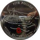 5 Pounds - Queen Elizabeth II (Royal British Legion) – reverse