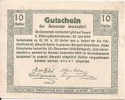 10 Heller (Jeutendorf) – reverse