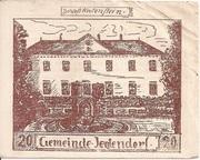 20 Heller (Jeutendorf) – obverse