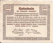 20 Heller (Jeutendorf) – reverse