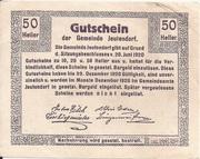 50 Heller (Jeutendorf) – reverse