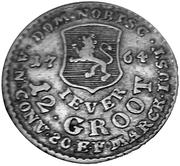 12 Grote - Friedrich August of Anhalt Zerbst (type I) – reverse