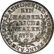 ½ Reichsthaler - Friederike Auguste Sophie – reverse