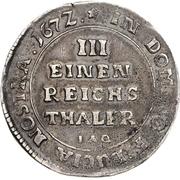 ⅓ Thaler - Karl Wilhelm von Anhalt-Zerbst – reverse