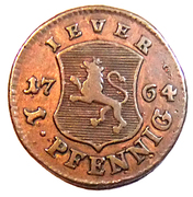 1 Pfennig - Friedrich August – reverse
