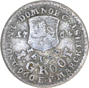 1 Groten - Friedrich August of Anhalt Zerbst – reverse