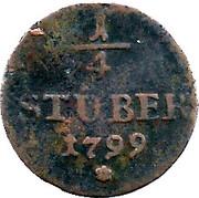 ¼ Stuber - Friederike Auguste Sophie – reverse