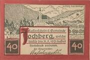 40 Heller (Jochberg) – obverse