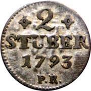 2 Stüber - Karl IV. Theodor – reverse