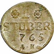 1 Stüber -  Karl Theodor – reverse
