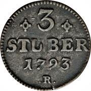 3 Stüber - Carl Theodor – reverse
