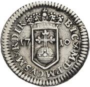 ¼ Ducat - Johann Wilhelm II (Silver pattern strike) – reverse