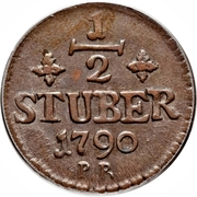 ½ Stüber - Carl Theodor – reverse