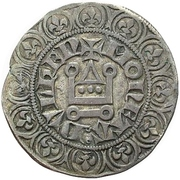 1 Turnose - Wilhelm II. (Tournosegroschen) – reverse
